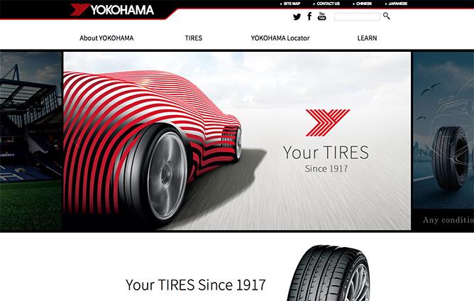 横浜ゴム株式会社様ー「YOKOHAMA TIRE Global Website」